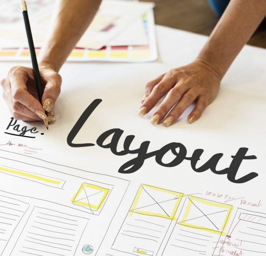 Designer working on a layout